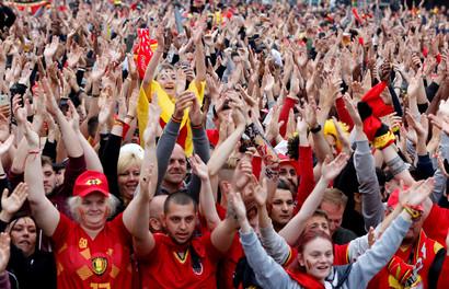 fotoreeks over Fans zien WK-droom uiteen spatten