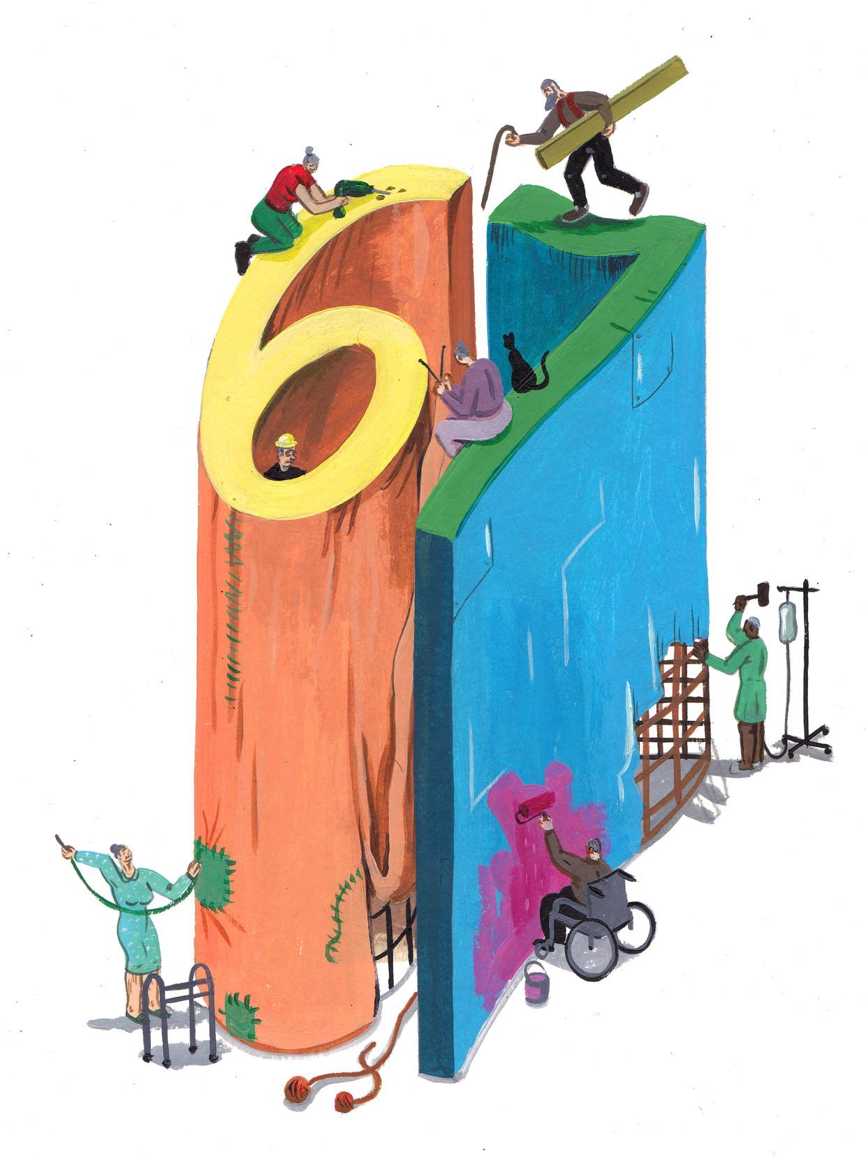 De pensioenleeftijd van 67 zou niet langer houdbaar zijn.'De logica der dingen en budgettair de enige optie', zegt professor Stijn Baert (UGent). Beeld brecht vandenbroucke