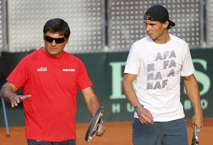 Rafel Nadal (links) met zijn oom Toni Nadal.
