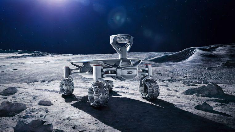 Zo ziet de Audi Lunar Quattro eruit, die in 2018 uit de ALINA-sonde zal rollen.  Beeld rv