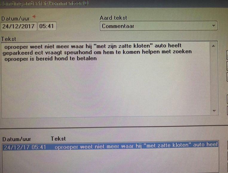 Politiezone Noorderkempen deelde via Facebook dit screenshot van de oproep.