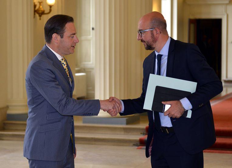 Bart De Wever en MR-voorzitter Charles Michel.