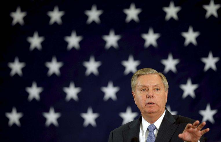Maandag kondigde Graham aan dat hij niet langer meedingt naar de Republikeinse nominatie. Beeld reuters