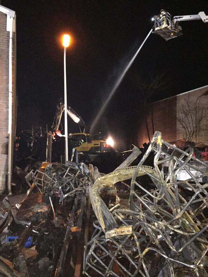 De ravage na de brand in Genemuiden