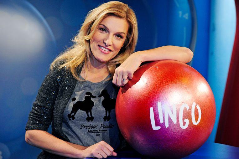Lucille Werner in het TROS-programma 'Lingo'.