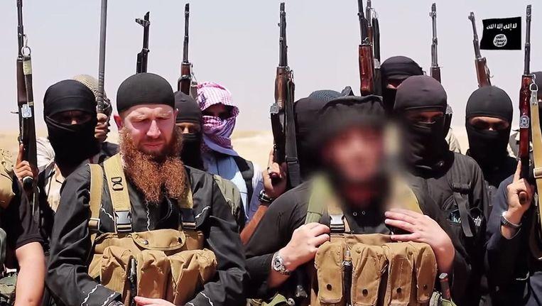 Omar al-Shishani had volgens het Pentagon de Georgische nationaliteit. Hij was gekend om zijn dikke rosse baard. Beeld afp