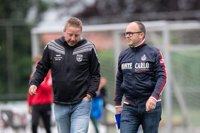 Orion-trainer Jeroen van Haaren (rechts) met Stefan Muller van DIO'30.