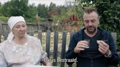 VIDEO. Wanneer beleefdheid boven gezond verstand gaat: Tom Waes krijgt een nucleaire maaltijd in Oekraïne