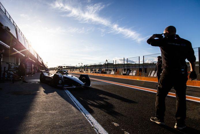 Stoffel Vandoorne tijdens de testdagen van de Formula E in Valencia.