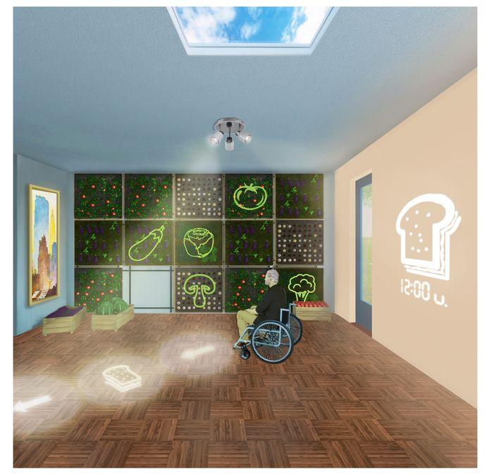 De slimme woning helpt mensen met dementie in hun dagelijks leven.