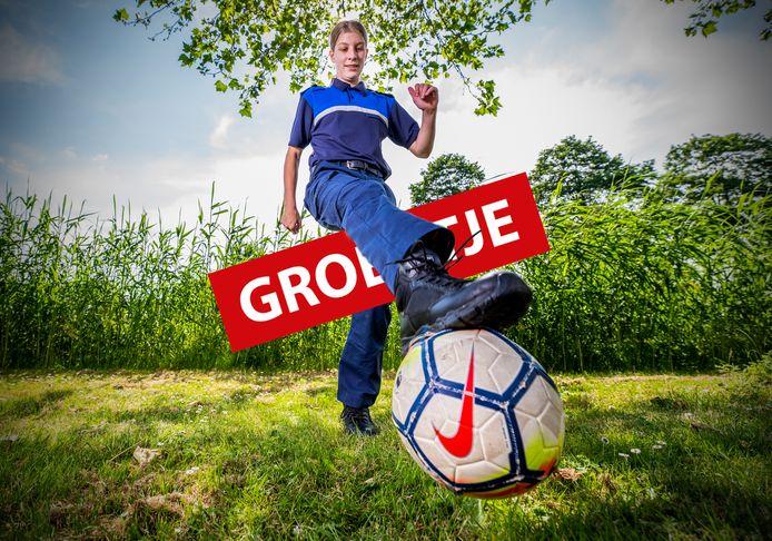 Groentje Tess de Bruyn uit Oudewater.