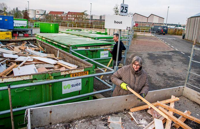 Het Alphense afvalbrengstation.