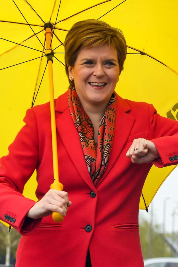 Premier en leider van de Schotse Nationale Partij (SNP) Nicola Sturgeon.