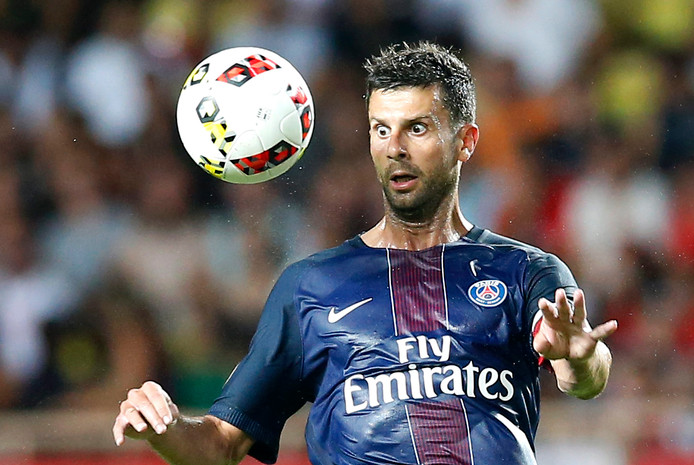 Thiago Motta als speler van Paris Saint-Germain.