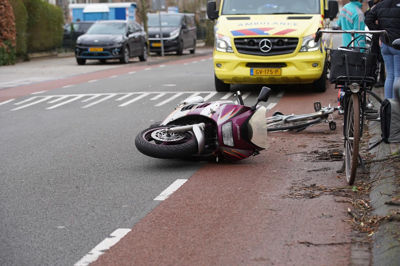 De motorrijder raakte gewond