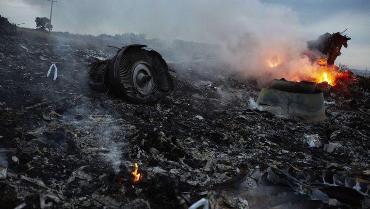 Wrakstukken van de MH17. (archiefbeeld) Beeld ANP Handouts