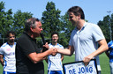 Sliedrecht nam afscheid van Jordy de Jong, die in een lager elftal gaat voetballen.
