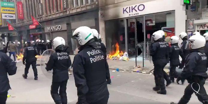 La police a dû intervenir en nombre dans le quartier de Matonge à Ixelles.