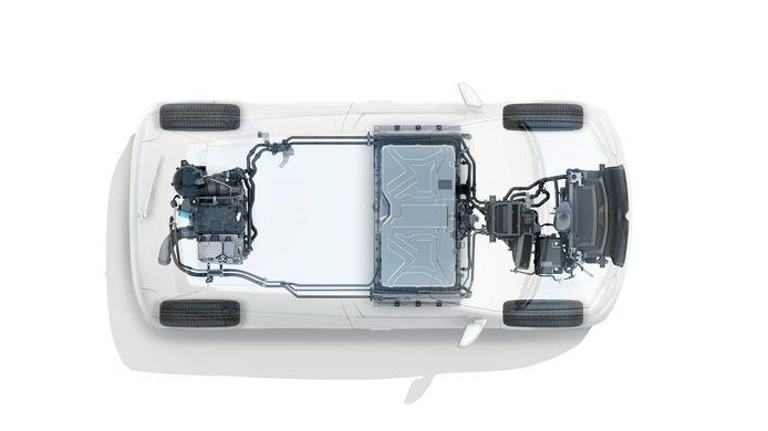 De elektrische aandrijving en accu van de Renault Twingo Electric