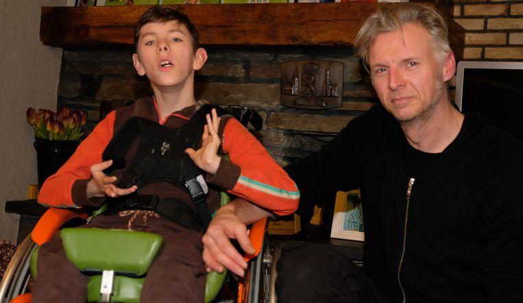 Janosch en zijn papa Gert
