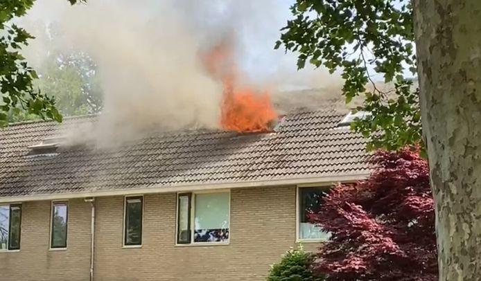 De brand op een zolder in Deventer.
