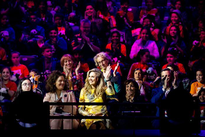 Koningin Máxima was gisteren wel bij het Songfestival, maar morgenavond niet bij de finale.