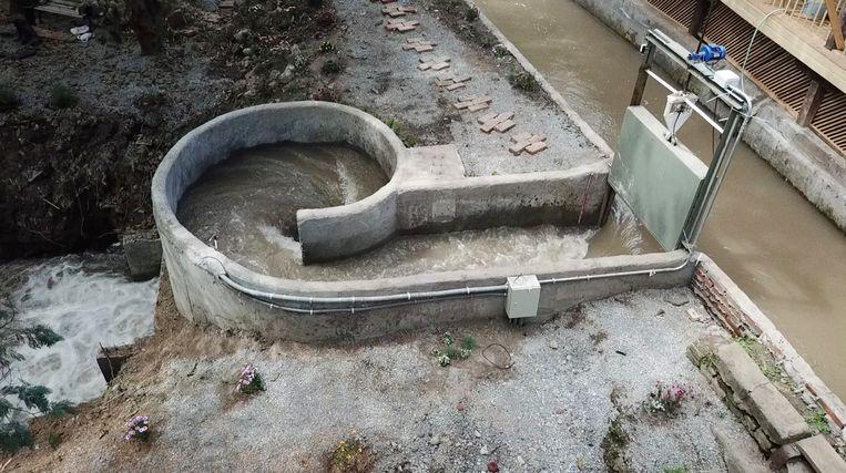 Een miniwaterkrachtcentrale van Turbulent Hydro in Chili. Beeld rv