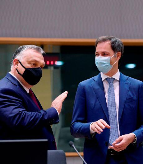 """De Croo: """"La Hongrie démontre la nécessité du nouveau mécanisme de conditionnalité"""""""