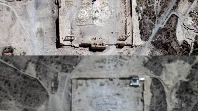 Satellietbeelden bevestigen vernietiging tempel van Bel