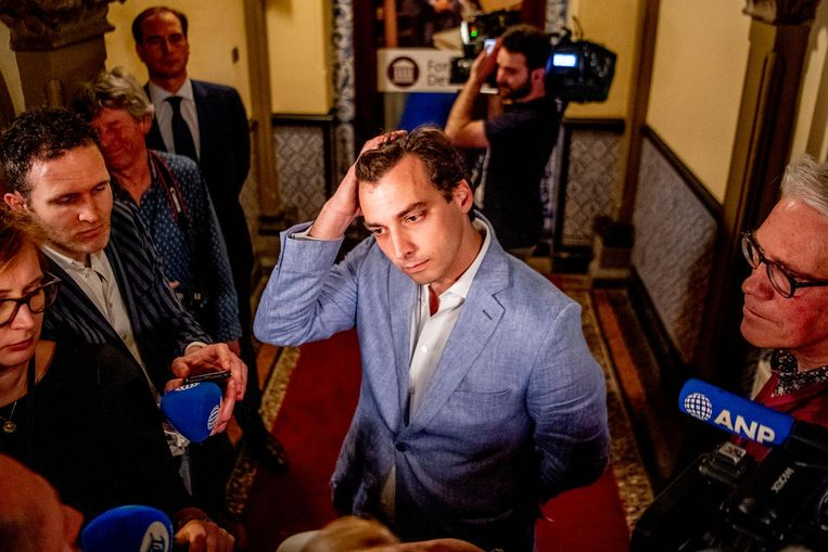 Thierry Baudet in gesprek met de pers. Beeld anp