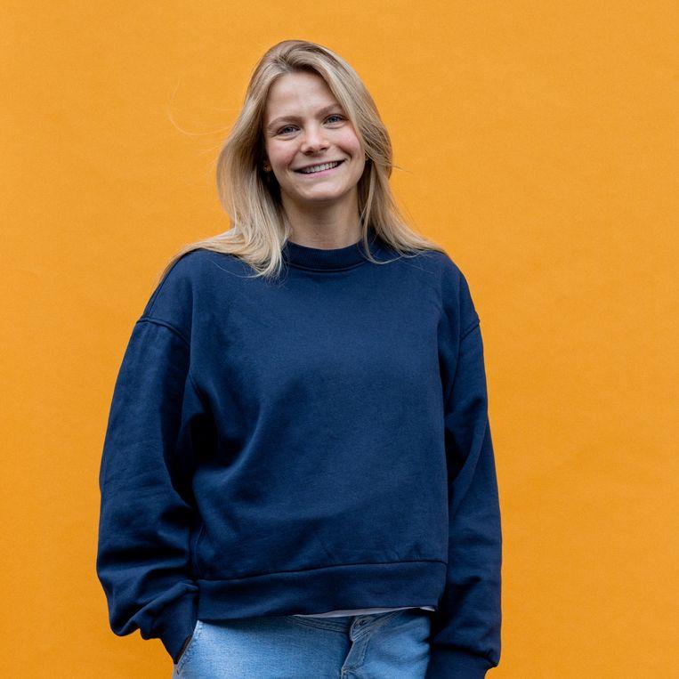 Sanne-Sofie Grift: 'Volgende week word ik 27, al voelt het alsof ik dit jaar tien jaar ouder ben geworden.' Beeld Ines Vansteenkiste-Muylle
