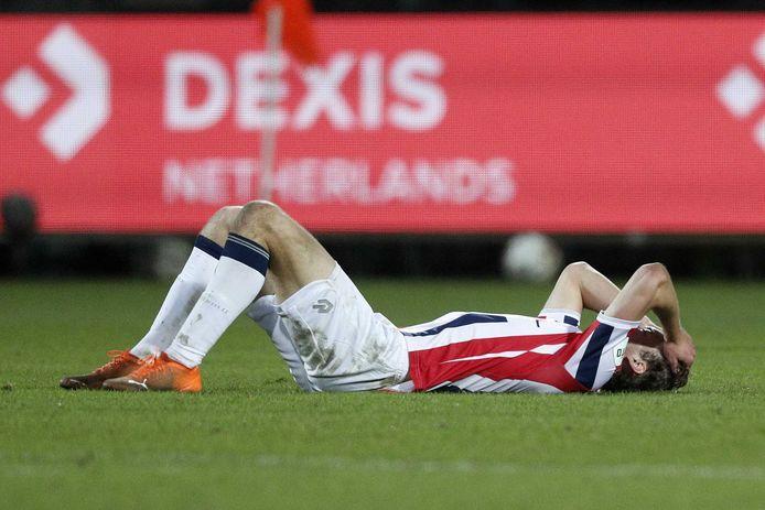 Ook voor Wesley Spieringhs voelde het gelijkspel tegen ADO Den Haag als een nederlaag.