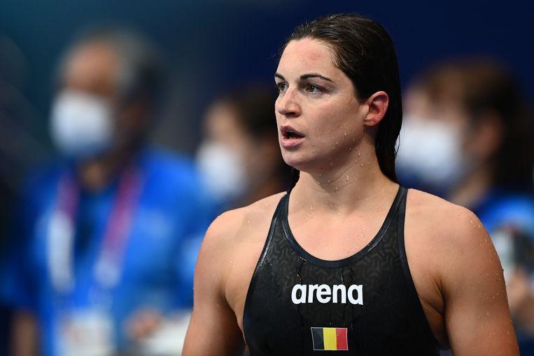 Fanny Lecluyse is vrijdag als achtste en laatste geëindigd in de olympische finale van de 200 meter schoolslag. Beeld BELGA