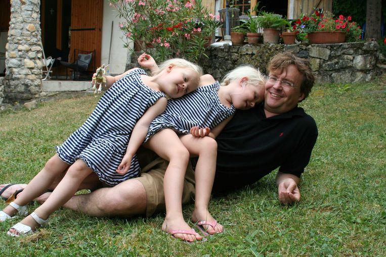 Prins Friso en zijn dochters Luana en Zaria.