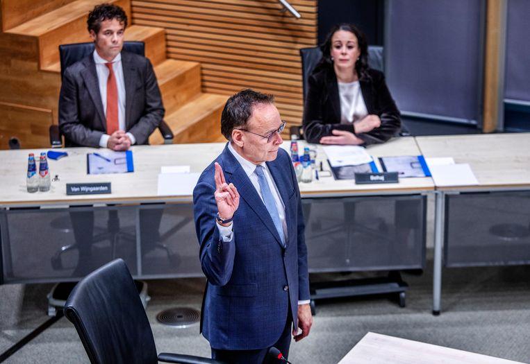 Gerard Blankestijn, oud-directeur Toeslagen, woensdag bij de parlementaire ondervragingscommissie Kinderopvangtoeslag. Beeld Raymond Rutting / de Volkskrant