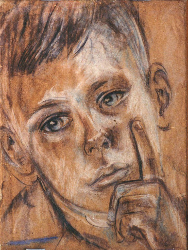 Haar elfjarige zoon Fons, een dag voor zijn overplaatsing naar het mannenkamp. Beeld Bep Rietveld / Museum Flehite