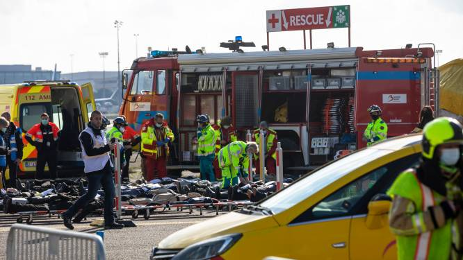 """Le crash d'un avion simulé à Brussels Airport: """"Tout s'est très bien déroulé"""""""