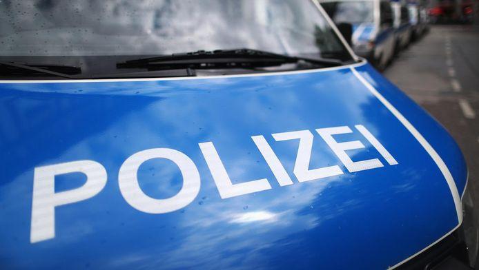 Duitse politiewagen.