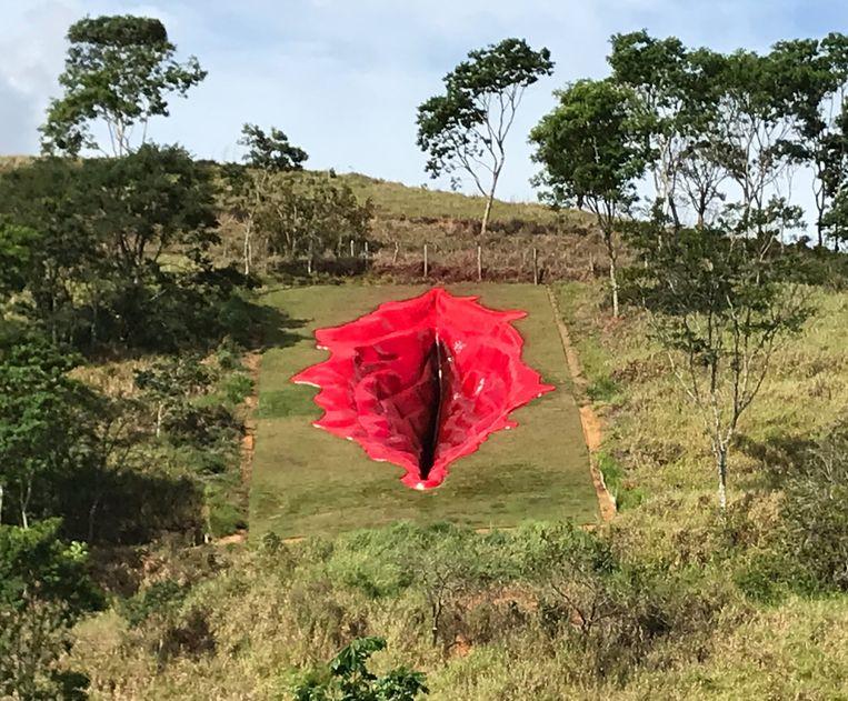 Het kunstwerk Diva van de Braziliaanse kunstenares Juliana Notari. Beeld