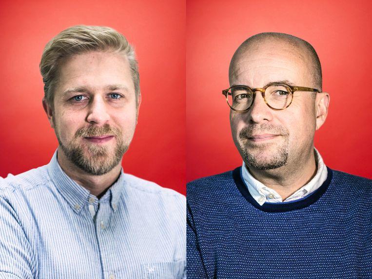 Seppe Nobels (l) en Sven Ornelis. Beeld Bas Bogaerts / Stefaan Temmerman