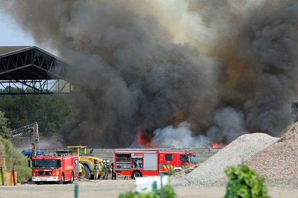 De afvalbrand bij Renewi.