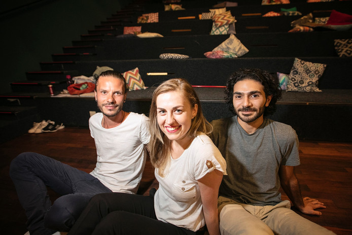 Mazen Altass, Monika Kowalewska en Ihab Bakir.