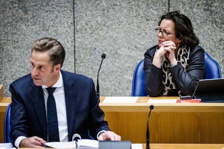 Hugo de Jonge en Tamara van Ark krijgen harde kritiek van de Algemene Rekenkamer. Beeld ANP