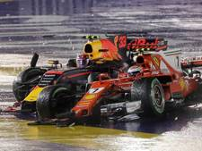Drama Verstappen: einde race na crash in eerste bocht