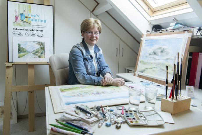 Elles Veltkamp in haar atelier.