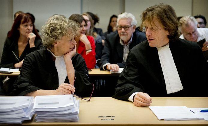 Benedicte Ficq en Marnix van der Werf tijdens de zaak-Badr Hari