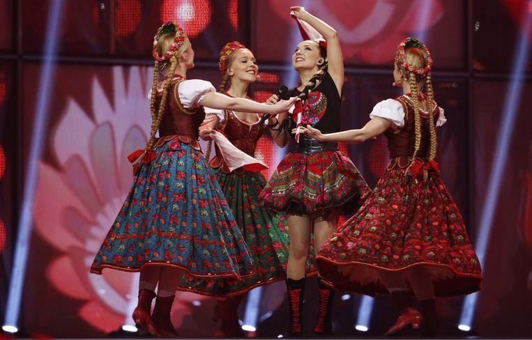 Naast Conchita vielen -visueel dan toch- vooral de Poolse meisjes op.