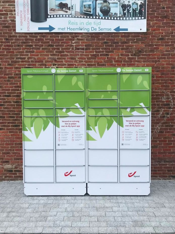 De pakjesautomaat werd aan De Semse in de Schoolstraat in Zemst geplaatst.