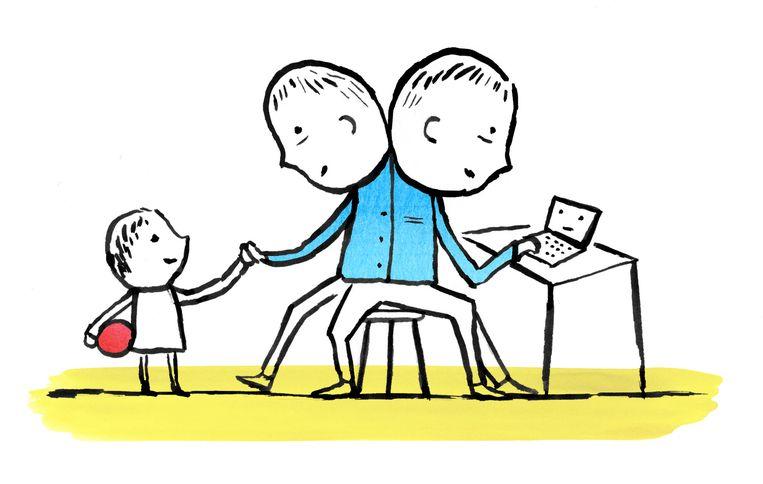 Werken en tijd voor de kinderen hebben. Beeld Claudie de Cleen