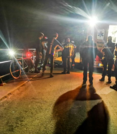 Groep wielrenners rijdt op ree in Dordrecht, twee fietsers raken gewond